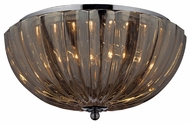 ELK 31251/2 Crystal Flushmounts 2 Lamp Ceiling Lighting Fixture With Chrome Finish