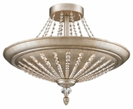 ELK 11360/9 Renee Crystal Semi Flush Mount Aged Silver 25 Inch Diameter Home Ceiling Lighting