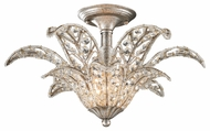 ELK 11365/1 La Flor Crystal 19 Inch Diameter Semi Flush Mount Lighting - Sunset Silver