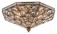 ELK 11371/4 Victoria Spanish Bronze 6 Inch Tall Flush Mount Crystal Ceiling Light Fixture