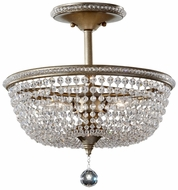 Feiss SF301-BUS Dutchess Burnished Silver Crystal Semi Flush Mount Ceiling Light