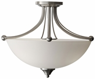 Feiss SF303-BS Morgan Semi Flush Transitional 18 Inch Diameter Overhead Light Fixture
