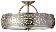 Feiss SF305-BS Zara Modern 19 Inch Diameter Semi Flush Ceiling Light Fixture