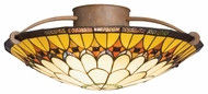 Kichler 69017 Artaxerxes Semi Flush Mount 19 Inch Diameter Tiffany Ceiling Light Fixture
