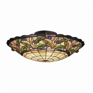 Kichler 69038 Secret Garden Tiffany 19 Inch Diameter Semi Flush Lighting Fixture