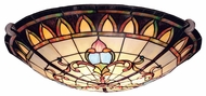 Kichler 69041 Art Glass 3 Light Bronze Tiffany Semi Flush Ceiling Light