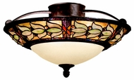 Kichler 69045 Art Glass Semi Flush 19 Inch Diameter Mount Bronze Overhead Lighting