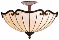 Kichler 69046 Clarice Tiffany 19 Inch Diameter Semi Flush Home Ceiling Lighting