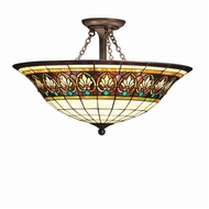 Kichler 69050 Provencia 3 Lamp Tiffany Bronze Finish 24 Inch Diameter Ceiling Light