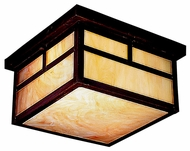 Kichler 10957CV Alameda Craftsman 11.5 Inch Diameter Outdoor Ceiling Light