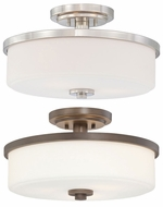 Quoizel MAS1716 Massena 16 Inch Diameter Semi Flush Ceiling Light Fixture