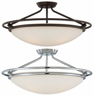 Quoizel QF1201 Ashland Extra Large 25 Inch Diameter Dome Semi Flush Ceiling Light Fixture