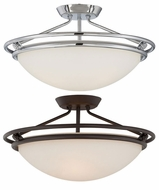 Quoizel QF1202 Ashland Large Dome 20 Inch Diameter Semi Flush Mount Ceiling Light