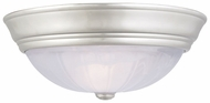 Quoizel AL183ES Alabaster Melon Medium Silver Flush Mount Traditional Ceiling Lighting
