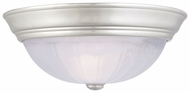 Quoizel AL184ES Alabaster Melon 16 Inch Diameter Large Silveer Flush Mount Lighting