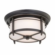 Quoizel DA1613IB Darrow Craftsman Flush Mount Outdoor Ceiling Light