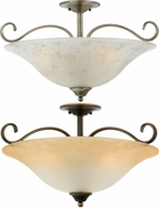 Quoizel DH1722AN Duchess Classic Ceiling Mount 22 Inch Diameter Semi Flush Lighting