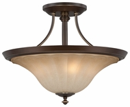 Quoizel ALZ1718PN Aliza Traditional Large 18.5 inch Diameter Semi Flush Ceiling Light