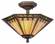Quoizel TFAN1714RS Arden Tiffany Semi Flush Mount Transitional Ceiling Light