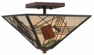 Quoizel MCRU1715HA Russell Semi Flush Mount Tiffany Transitional Ceiling Lighting Fixture