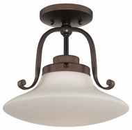 Quoizel OA1712PN Olympia Transitional Bronze Semi Flush Ceiling Light Fixture