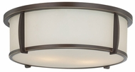 Quoizel QF1214SPN Calhoun Transitional Flush Lighting in Bronze