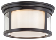 Quoizel WLS1613PN Wilson Small Transitioanl Flush Bronze Overhead Light