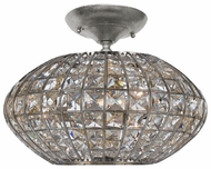 Crystorama 340SA Solstice Semi-Flush Crystal Ceiling Light