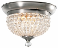 Crystorama 6742AP Newbury Crystal Flush Mount Pewter Overhead Light Fixture