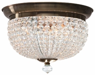 Crystorama 6743AB Newbury Large Antique Brass Home Ceiling Lighting