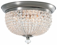 Crystorama 6743AP Newbury Antique Pewter Large Flush Mount Crystal Lighting