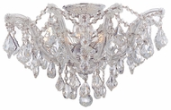 Crystorama 4437CHCLMWP Maria Theresa 5 Light Chrome Semi Flush Lighting Fixture