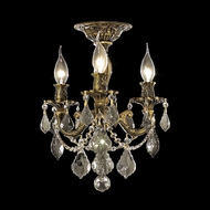 Elegant 9203F13AB-RC Rosalia Vintage Crystal Candelabra Semi Flush Mount Ceiling Light