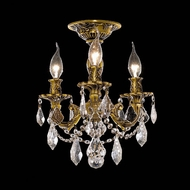 Elegant 9203F13FG-RC Rosalia French Gold Vintage Ceiling Lighting with Clear Crystal Accents