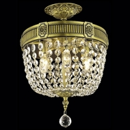 Elegant 9303F12AB-RC Esperanza Antique Bronze 17  Tall Overhead Light Fixture