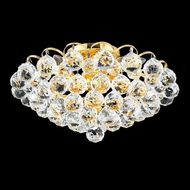Elegant 2001F14G-RC Godiva Crystal Gold Semi Flush Mount Light Fixture