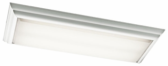 Kichler 10314WH White Large 4 Light Rectangular Flush Mount Ceiling Lamp