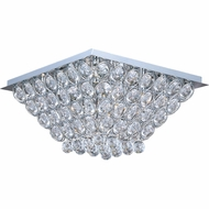 ET2 E2400020PC Brilliant Small 16-bulb Flush Mount Ceiling Light with Crystal Accents