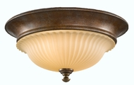 Feiss FM277-BRB Somerset 2 Light 13 inch Flushmount Ceiling Fixture