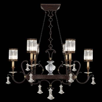 Fine Art Lamps 583840 Eaton Place 6-light Traditional Crystal Kitchen Island Light Fixture