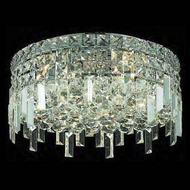 Worldwide 33607 Worldwide 16  5-light Crystal Semi-Flush Ceiling Light w/ Accent
