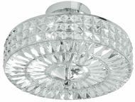 Crystorama 814-CH-CL-MWP Chelsea 14 inch semi-flush mount in chrome