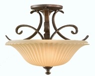 Feiss SF246-BRB Somerset 2 Light Semi Flush Ceiling Fixture