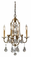 Feiss F24804OBZ Valentina 4-Light Mini Chandelier / Semi-Flush Ceiling Light