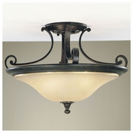 Feiss SF194LBR Cervantes Traditional Wide Semi-flush Ceiling Light