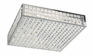 PLC 18189-PC Jewel Flush-Mount Ceiling Fixture - 20 inches wide