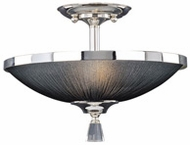 Maxim 32001BTPS Elite Silver Semi-Flush Ceiling Light