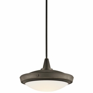 Kichler 42136OZ Fremont 15  Large Bronze Convertible Ceiling Lighting/Hanging Lamp
