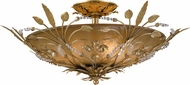 Crystorama 4704 Floral 20 inch 6-lite ceiling light in gold leaf