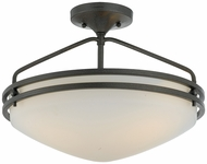 Quoizel OZ1716IN Ozark Contemporary Semi Flush Ceiling Light - 16 inches